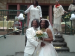 Kimberly Gail(Cemmie's oldest daughter) and her husband Tony on their Wedding Day! Michelle Storey(Mae's daughter), Ed